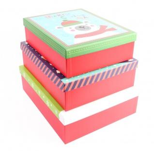 Geschenkkartons aus Karton, Rot, 3 Stück - Home Styling Collection
