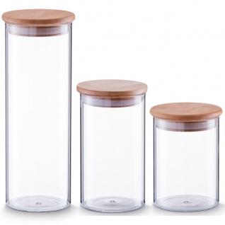 ZELLER Vorratsglas mit Bamboodeckel - 1 Liter