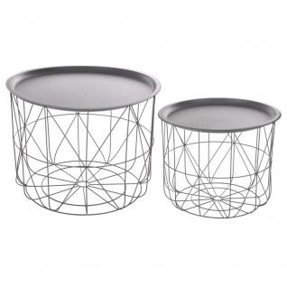 Set von Couchtischen aus Metall, verschiedene Größe Wohnzimmer Möbel, leichte und tragbare Tische