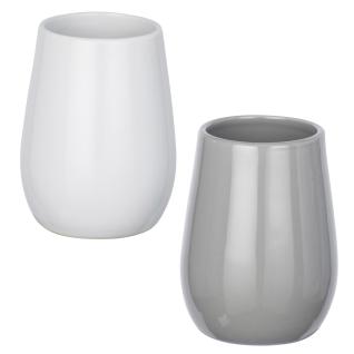 Keramikbecher für Zahnbürste, dekorativer ovaler Behälter SYDNEY - WENKO