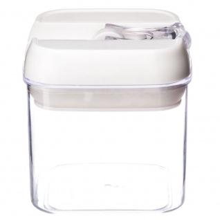 OSLO Lebensmittelbehälter, quadratisch, transparent, 0, 5 l Fassungsvermögen