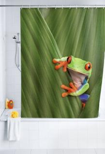 Duschvorhang Frog - waschbar, mit 12 Duschvorhangringen