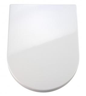WENKO Premium WC-Sitz Palma - Absenkautomatik, rostfreie Fix-Clip Hygiene