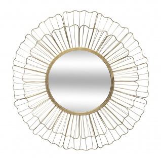 Spiegel im goldenen Rahmen FLEUR, Metall, Ø 67 cm