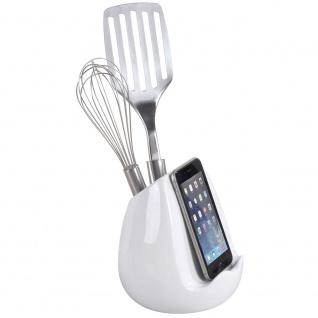WENKO Utensilo mit Tablethalter-Küchen-Utensilienhalter und Kochbuchständer
