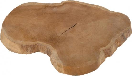 Tischtablett aus Teakholz, Ø 35 cm, Topfständer - Home Styling Collection