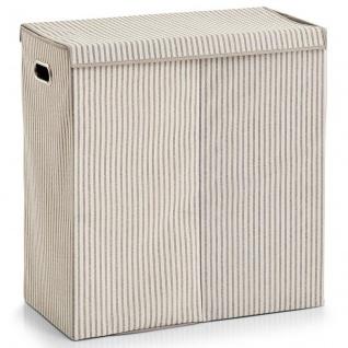 Zweikammer-Wäschekorb, faltbar, 120 l, 63 x 61, 5 x 31 cm, ZELLER