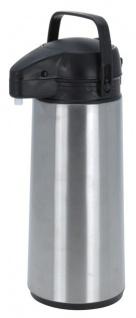 Isokanne mit Pumpmechanismus in silber/, ca. 1, 9 Liter