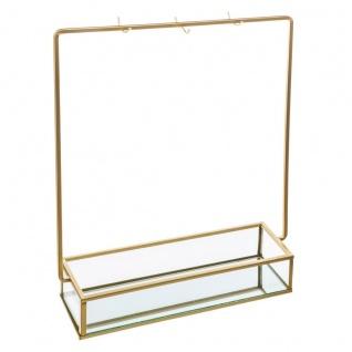 Glass Office Box mit Halskette Aufhänger, farbe schwarz - Atmosphera