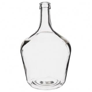 Blumenvase Glas VAZA, Dame Jeanne, originelles Design, 16 x 25 cm, transparent