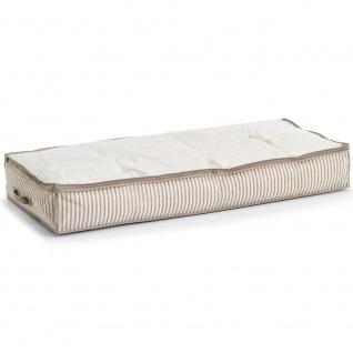 Bezug für Bettwäsche und Kleidung, Textilbehälter mit transparentem Fenster - 104 x 46 x 15 cm, ZELLER