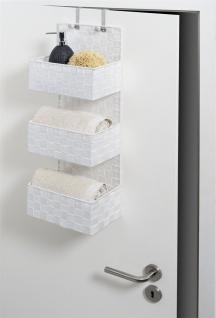 Wenko Organizer Adria zum Aufhängen, Badkörbe, 3 Ebenen, Polypropylen, weiß, 15, 5 x 25 x 72 cm - Vorschau 3