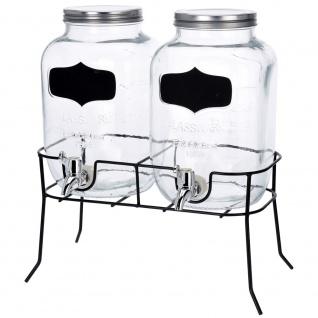 Getränkespender, Glas - 2 x 4 l