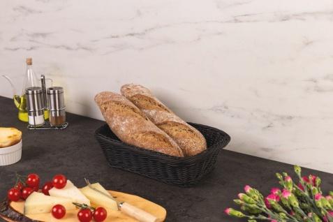 Geflochtener Brotkorb in schwarz, praktischer und pflegeleichter Brotkorb - Vorschau 2
