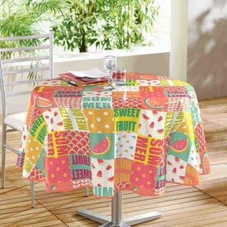 Runde Tischdecke SWEET FRUIT, Ø 160 cm, mehrfarbig