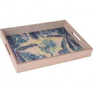 Serviertablett, Holzunterlage mit trendigem Motiv mit Griffen zum einfachen Tragen.