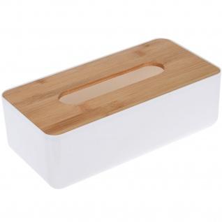 Taschentücher Behälter mit Bambusdeckel, 26x13x8 cm - Storagesolutions