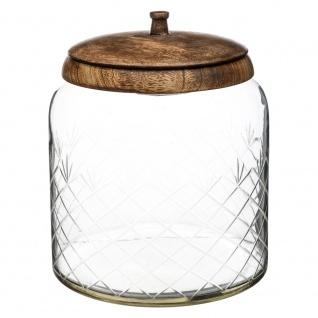 Glas für Süßigkeiten, dekorativer Behälter mit Holzdeckel - 19 x 23 cm, SECRET de GOURMET