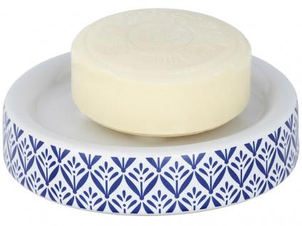 Seifenschale aus Keramik mit Mediterranem Stil, dekorativer Badständer LORCA - WENKO