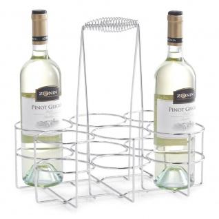 Zeller Flaschenhalter für 6 Flaschen Chrom 32x22x31 - Vorschau