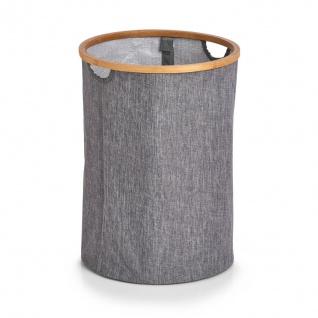 Wäschesammler mit Bambus-Gestell, 50 L, grau, ZELLER - ZELLER