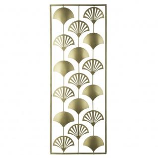 Deko Rahmen, Wanddeko, Wandbild, Metallverzierung, goldfarbe 80 x 30 cm