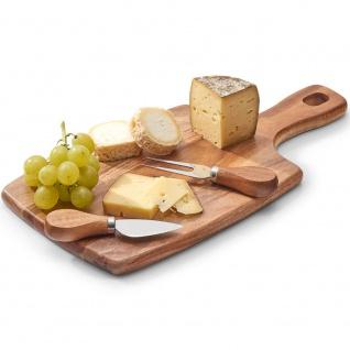 Brett mit Gabel und Messer zum Schneiden und Servieren von Käse, Küchenzubehör aus Holz - 35, 5 x 18 cm, ZELLER - Vorschau 2