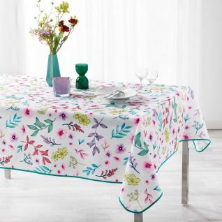 Tischdecke, rechteckig, FRESHY WHITE, 150 x 240 cm, weiß, Blumen-Motiv