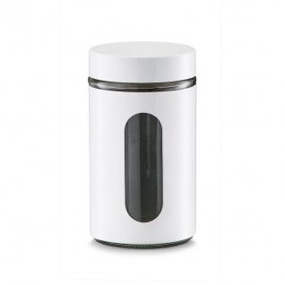 Vorratsbehälter, Glas, umschlossen mit Visier, Inhalt 0, 9 l, weiß, Zeller