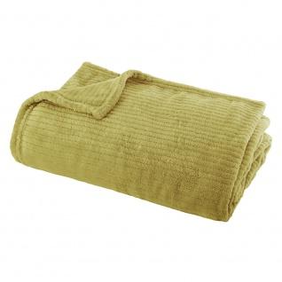 Decke, Tagesdecke, Wohndecke, Bettüberwurf 150 x 120 cm gelbe Farbe
