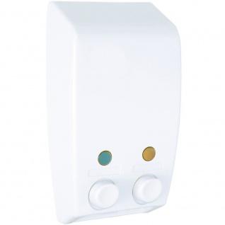 Varese White WENKO Flüssigseifenspender, 2 Seifenbehälter einfach an der Wand zu installieren - WENKO