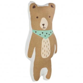 Weiches Kissen in Form eines Teddybären BOY, dekoratives Kissen - 41 x 20 cm