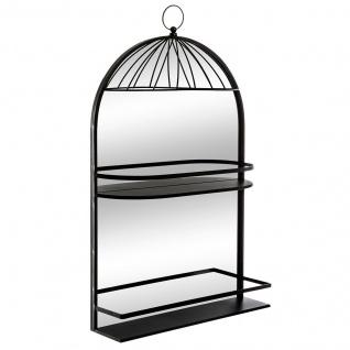 Wandregal mit dekorativem Spiegel, 75 cm, 3 Ebenen, Rahmen - Atmosphera