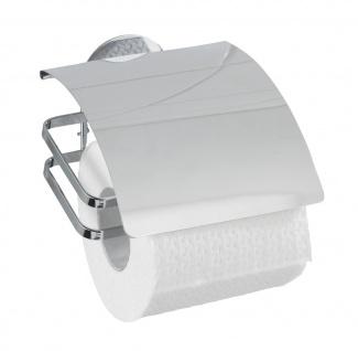 Wenko, Turbo-Loc Toilettenpapierhalter Cover, Edelstahl rostfrei, glänzend