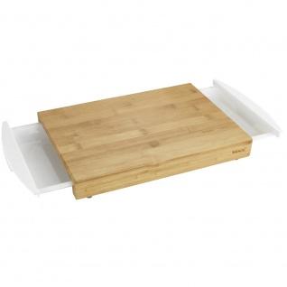BINA Schneidebrett mit 2 einziehbaren Tabletts Bambus Küchenzubehör - 40, 5 x 20 cm, WENKO - WENKO