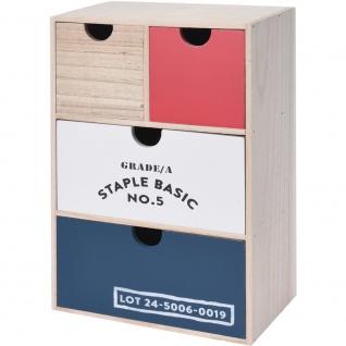 Mini Kommode Aus Holz Für Kleine Gegenstände 4 Schubladen