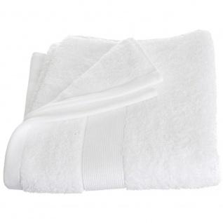 Weiches Badetuch aus 100% natürlicher Baumwolle, elegantes rosa Handtuch mit Bordyura verziert - Atmosphera