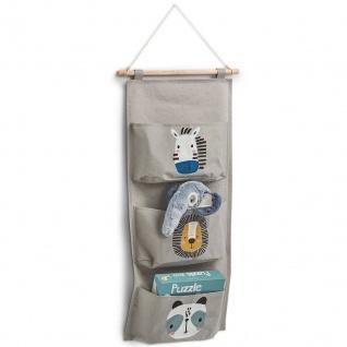 Hängeorganizer für Spielzeuge mit niedlichen Tieren für Kinder, 60?20 cm, ZELLER