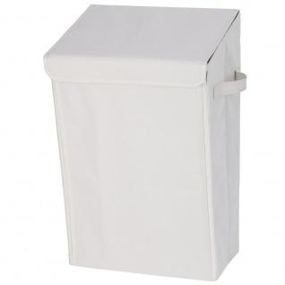 WENKO Waschkorb mit Deckel für Magnet 30 l, Wand-Badezimmer-Halterung Turbo-Loc