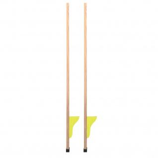 Stelzen aus Holz, 120 cm, 2 Stück, gelb