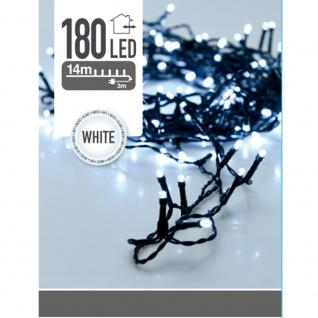 Weihnachtsbaum Lichter 180 LED, Outdoor, 14 m, Farbe weiß - Home Styling Collection