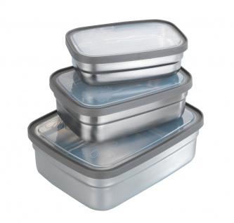 Lebensmittelbehälter, Edelstahl, 3 Stück, WENKO - WENKO