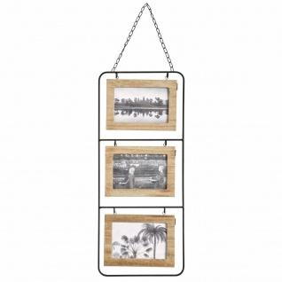 Bilderrahmen aus Holz, für 6 Fotos, braun, L. 22 x l. 2 x H. 51.5 cm