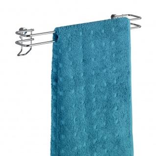 Wenko Handtuchstange Classic Handtuchhalter, Badetuchstange, Stahl, chrom, 8.5 x 40 x 8 cm