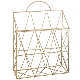 Zeitungsständer, Dokumenten-Organizer aus Metall, goldene Konstruktion