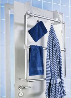 WENKO Handtuchhalter für Tür und Duschkabine Compact mit 3 Querstangen - Vorschau 2