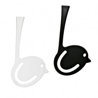 koziol Lesezeichen [pi:p], Kunststoff schwarz / weiß, 7, 7 x 0, 4 x 6, 5 cm
