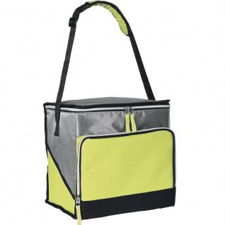 Thermotasche Kühltasche 18 L, silber mit gelben Akzenten