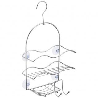 Hängeregal für Badezimmer, 3-stöckig, Metall, Wellenform