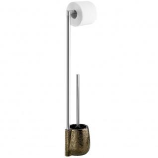 Toilettenpapierhalter mit WC-Bürste und Behälter im orientalischen Stil, Badgarnitur MARRAKESH - WENKO